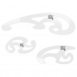 FRENCH CURVE set de 3pcs