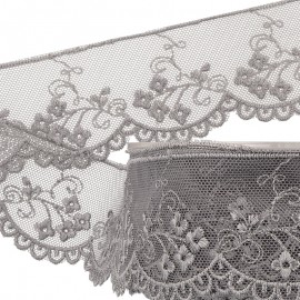 Embroidered lace/tulle5cm
