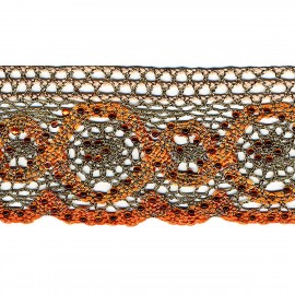 Metal lace with beads