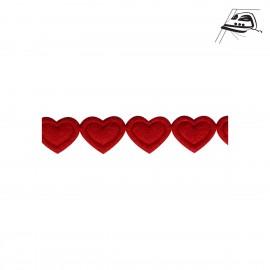 Warmklebendes Herzenband