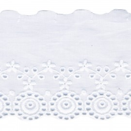 Cotton Eyelet lace 8cm