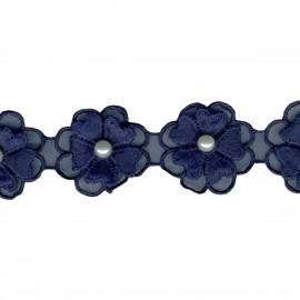 Blumen/Tuch&Perlenborte
