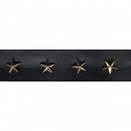 Fake leather star trim