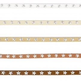 Suede lace cord w/ stars