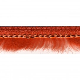 Leather imit.fur trim40mm