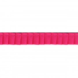 Grosgrain pleated trim