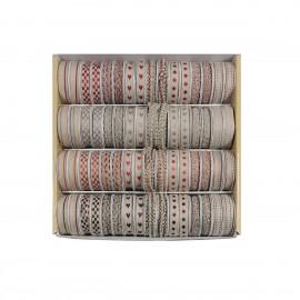 Leinenbänderkaste 64St*2m