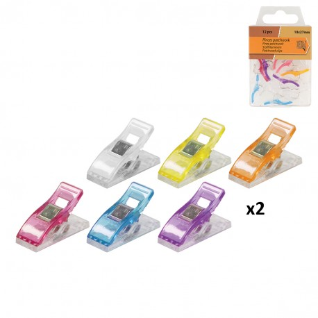 Patchwork clips x12pcs