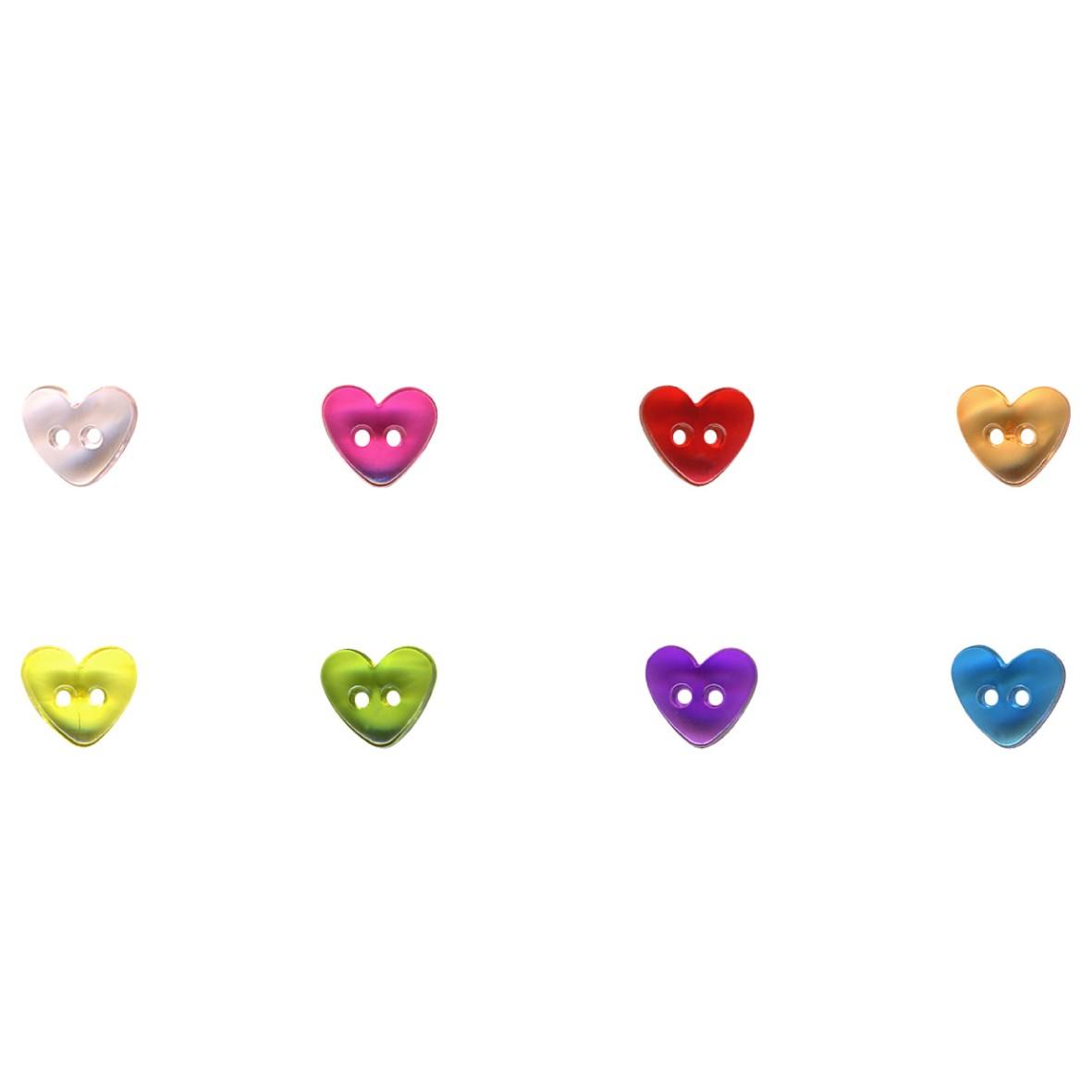 transparent heart button - Stéphanoise et Médiac