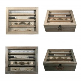 Wood sewing box 24x20x8cm