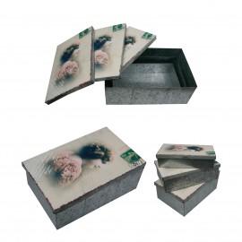 Zinc boxes Vintage *3pc