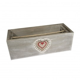 WOODEN RIBBON BOX