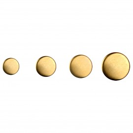 flat metal buttons-Golden