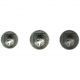 schield metal button
