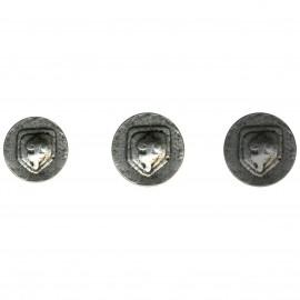 schield metal button