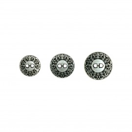 Deco. metal button 2holes