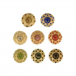 BOUTON STRASS COLORES/OR
