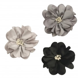 Flower brooch silk aspect