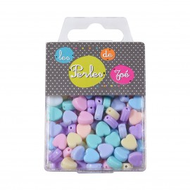 Plastic beads heart 20gr