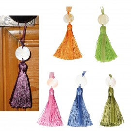 Tassel w/ pearly disc x6