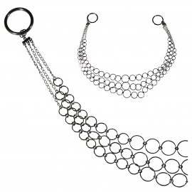 3 ROW RING METAL TIE-BACK