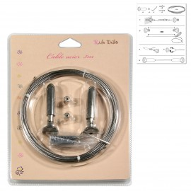 Steel cable kit 5m