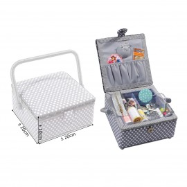 Squ.Sewing box 20x20x11cm