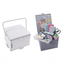 Squ.Sewing box 26x26x19cm