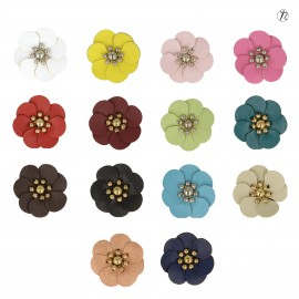 Flower w/ Plast.beads 3cm