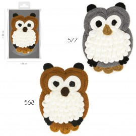 XL PATCH HIBOU LAINE