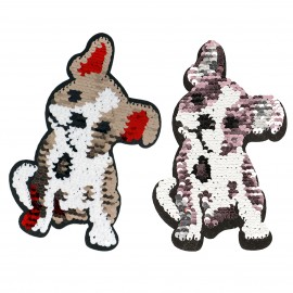 XL SEQUINS DOGS PATCH