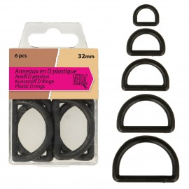 PLASTIC D RING 38mm*4
