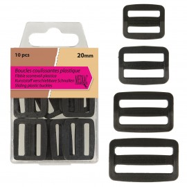 Fibbie Scorrevoli 38mm*4 Plastica