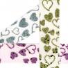 Cut edges heart ribbon