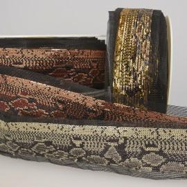 Reptil Pailletten Borte