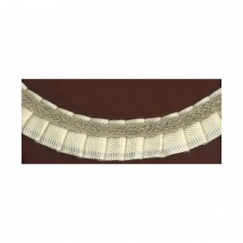 natural pleated ruche