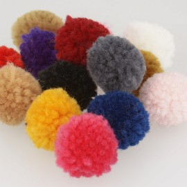Curly pompom *12