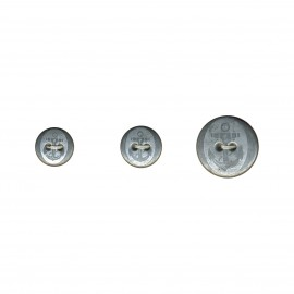 Metalbutton anchor 2holes
