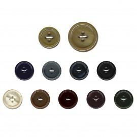 Galalith round buton 4hol