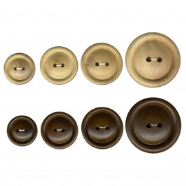 Round wooden button 2hole