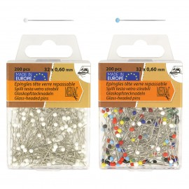 Glass-headed pins *200p 32*0,60mm