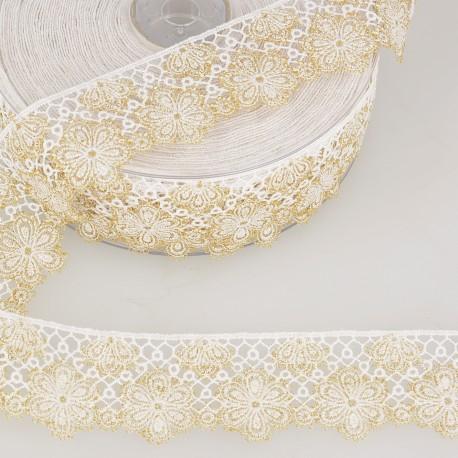 Bi-colour flower lace