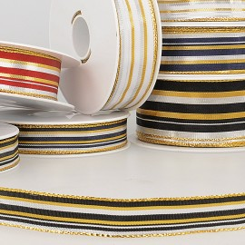 Brass ribbon with stripes