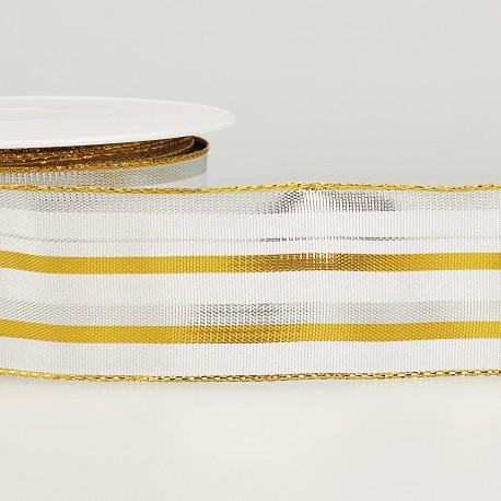 Brass ribbon with stripes