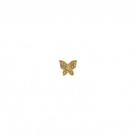 Shiny butterfly button