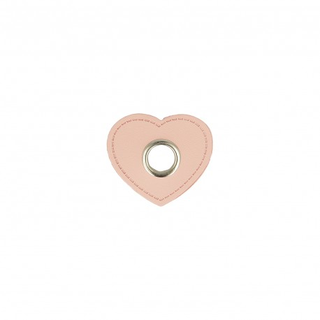 Eyelets patch heart 10mm *4