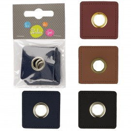 Eyelet Patch Square 10mm *4