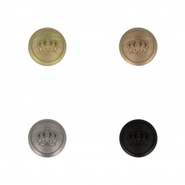 Crown Metal Button