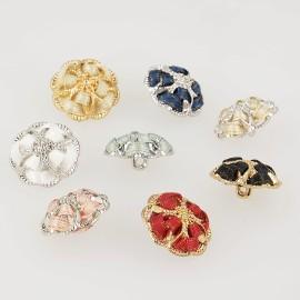 Button jewel camellia