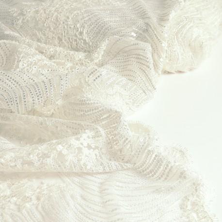 Lace glitter large width